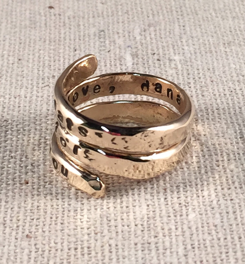 Personalized Mothers Ring 14K Gold Filled Mothers Ring Grandmothers Ring Personalized Wrap Ring Name Ring