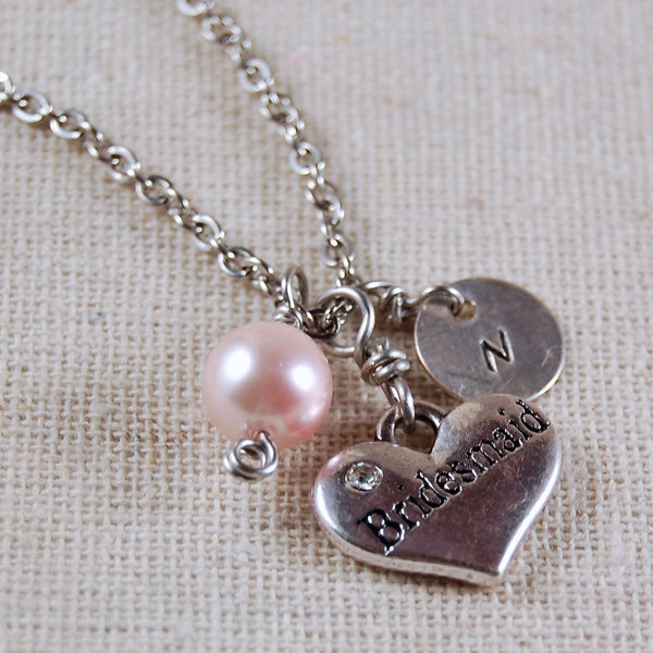 Custom Bridesmaid Necklace Personalized Bridesmaid Necklace Custom Bridesmaid Jewelry