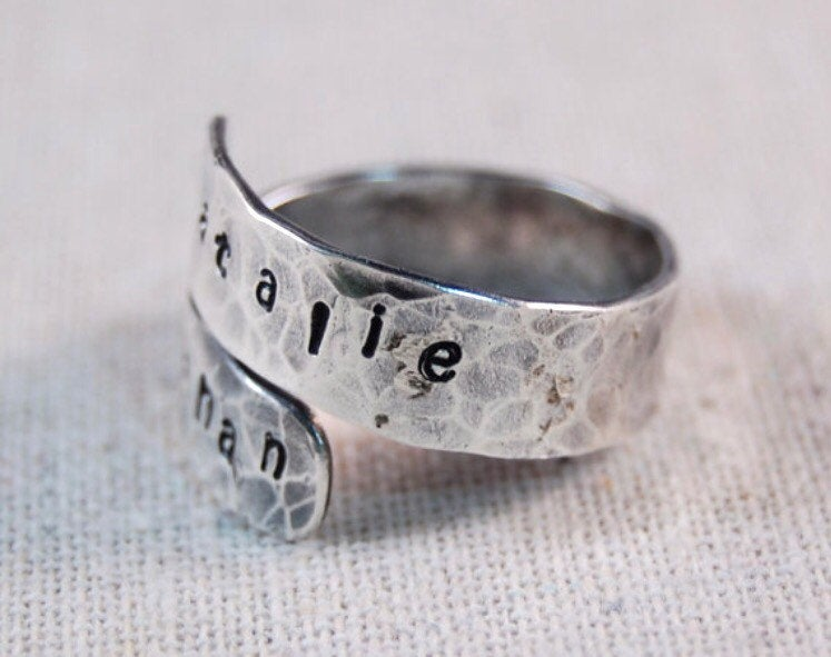 Personalized Mothers Wrap Ring