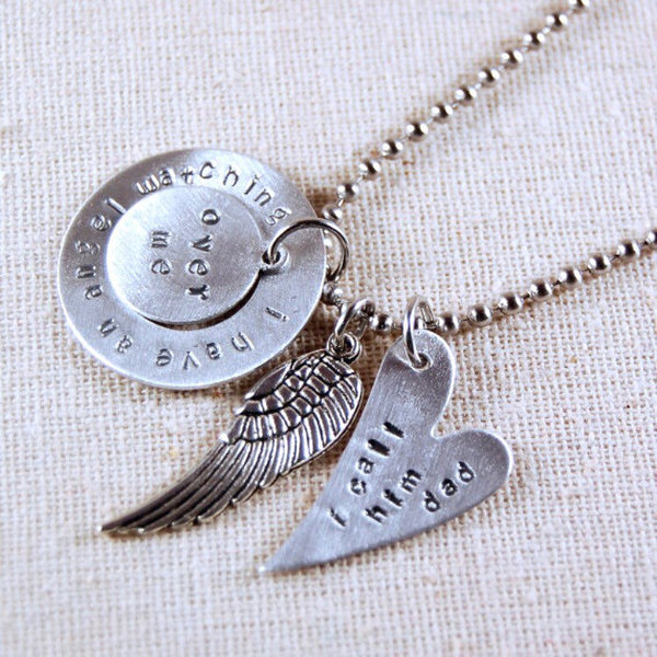 Memory Necklace - I have an angel watching over me