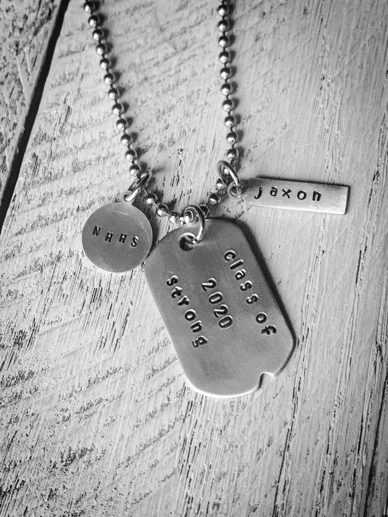 Graduation Necklace 2020 Strong Dog Tag