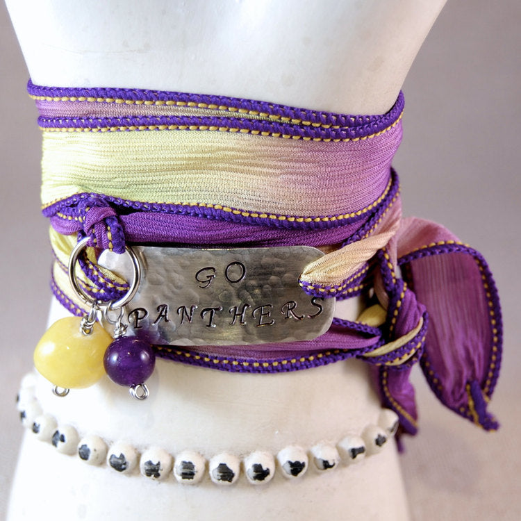 UNI Panther Bracelet, Purple and Gold