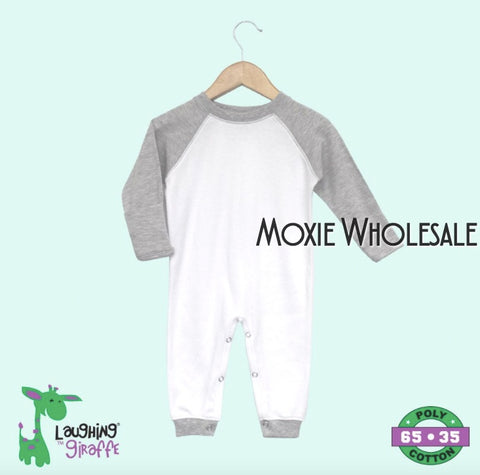 Raglan Sleep and Play with Mittens- Gray and White