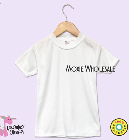 Toddler & Youth Sizes-  Short Sleeved Tee - White - 100% Poly