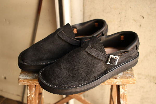 "Tokyo Sandal for McFly / ""HEEL HOLD SLIP-ON"" (TS-B02,SUEDE BLACK) / 2019 model"