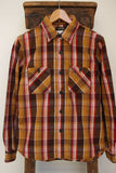 COLIMBO / RICHMOND-BORO WORK SHIRT,FLANNEL (ZS-0311,BROWN/YELLOW)