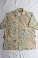 "FREEWHEELERS / ""ADVENTURE COLLECTION"" SHORT SLEEVE OPEN-NECKED SHIRT (#1923022,ANCIENT MAP COLOR PRINT)"