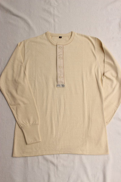 FREEWHEELERS / HENLEY NECK LONG SLEEVE SHIRT (#1715004,STRAW CREAM)