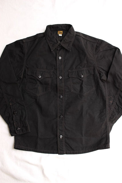 FREEWHEELERS / U.S.NAVY C.P.O. SHIRT (#1923007,BLACK)