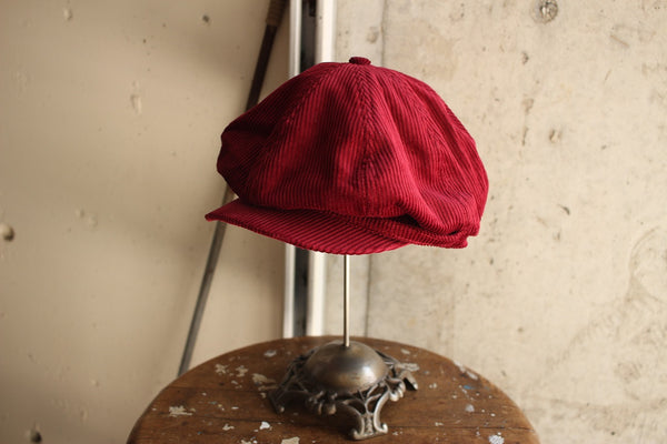 ADJUSTABLE COSTUME / 20's Style Casquette (AC-097A,WINE)