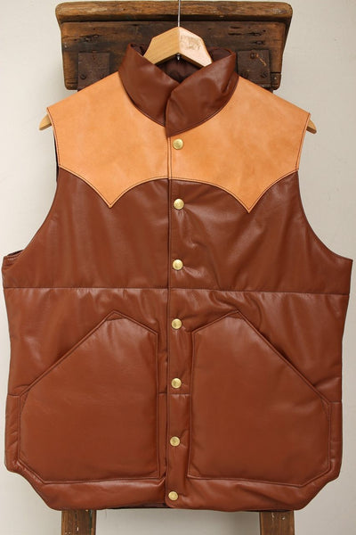 Rainbow Country / ALL LEATHER PRIMALOFT VEST (RCL-10057HC,BROWN) / 2017 model