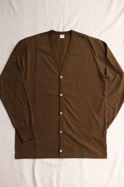 WORKERS / 3 PLY Cardigan (Khaki)