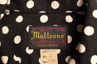 MATTSONS' / PRINT OPEN COLLAR SHIRT (65921,DOT)