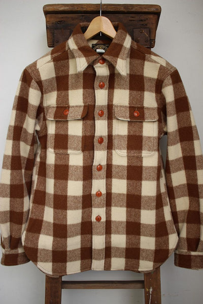 BARNSTORMERS / Buff. Plaid Camper's Shirt (S16-01,KHAKI×CREAM)