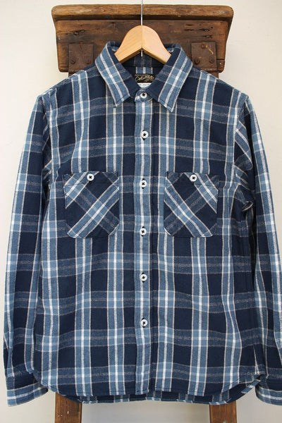COLIMBO / RICHMOND-BORO WORK SHIRT,FLANNEL (ZS-0311,NAVY/SAX)