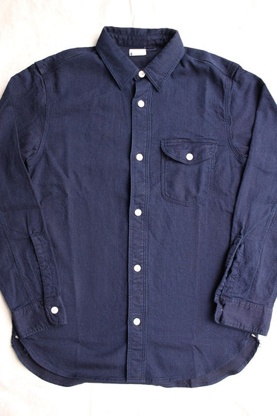 WORKERS / Lt Work Shirt (Indigo Dobby)