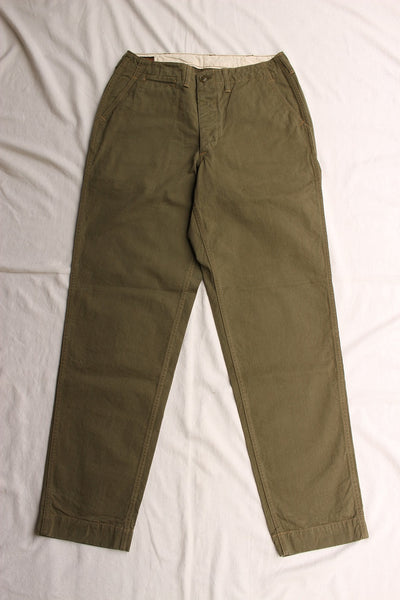 FREEWHEELERS / ARMY OFFICER TROUSERS (#2022010,LIGHT OLIVE)