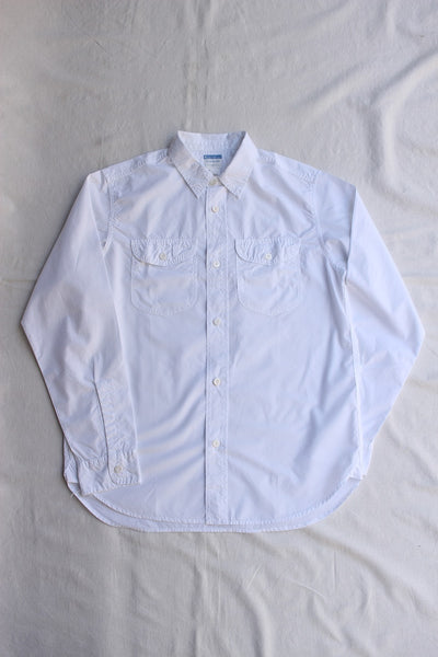 WORKERS / Acorn Work Shirt (White Broadcloth)