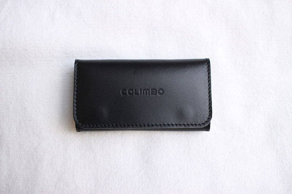 COLIMBO / SARATOGA SPRINGS LEATHER KEY CASE (ZU-0702,BLACK)