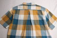 YEALOW / BLOCK CHECK SHIRT (35239,MUSTARD)