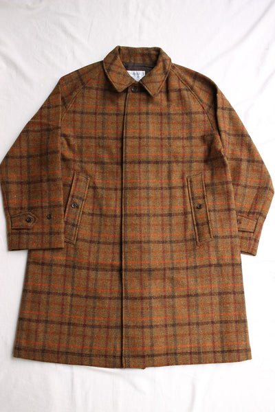 WORKERS / Bal Collar Coat,Hariis Tweed (Olive Plaid)