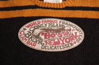 "BO'S GLAD RAGS / ""Bo's Red-Hot Frankfurters,Coney Is., Brooklyn"" (K19-02,BROWNIE BLACK / CARAMEL)"