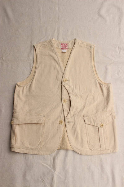WORKERS / Cruiser Vest (Reversed Sateen, Ecru)