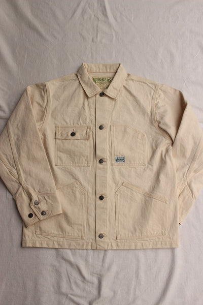 WORKERS / Engineer Jacket (White Denim, Sanforized)