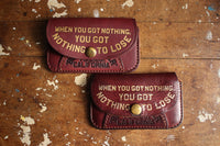 "BARNSTORMERS / Late 1950s Gold Leaf Card Case ""Nothing To Lose"" (A16-02,KIDNEY BEAN)"
