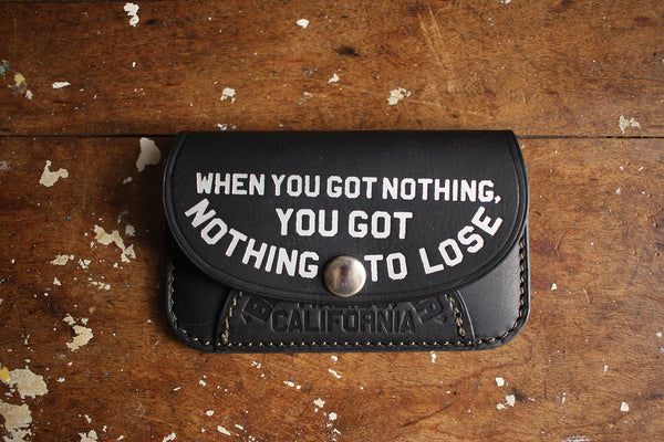 "BARNSTORMERS / Late 1950s Gold Leaf Card Case ""Nothing To Lose"" (A16-02,BLACK)"