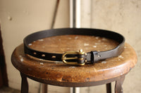 COLIMBO / HAFLINGER LEATHER BELT (ZW-0705,BLACK)