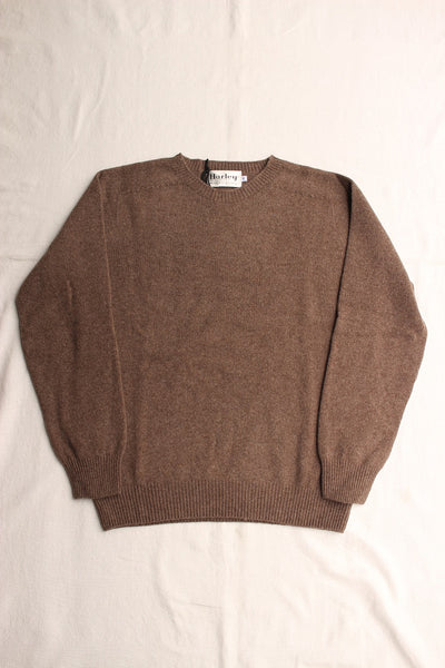 HARLEY OF SCOTLAND / CREW NECK SWEATER (CACAO)
