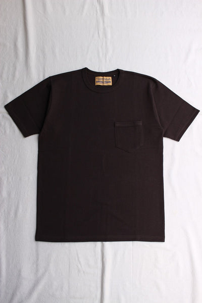 FREEWHEELERS / HEAVY WEIGHT SET-IN SHORT SLEEVE POCKET T-SHIRT (#2025021,JET BLACK)