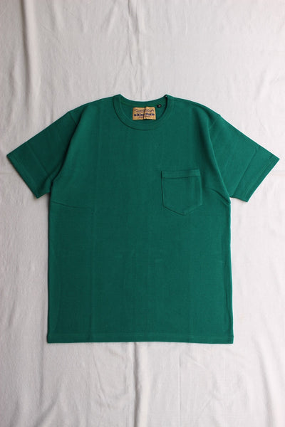 FREEWHEELERS / HEAVY WEIGHT SET-IN SHORT SLEEVE POCKET T-SHIRT (#2025021,TEAL GREEN)