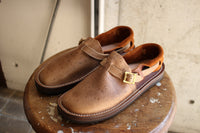 "TOKYO SANDAL ""McFly × THE BOOTS SHOP"" / HEEL HOLD SLIP-ON (TS-C01,KUDU NATURAL × DARK BROWN) / 2020 model"