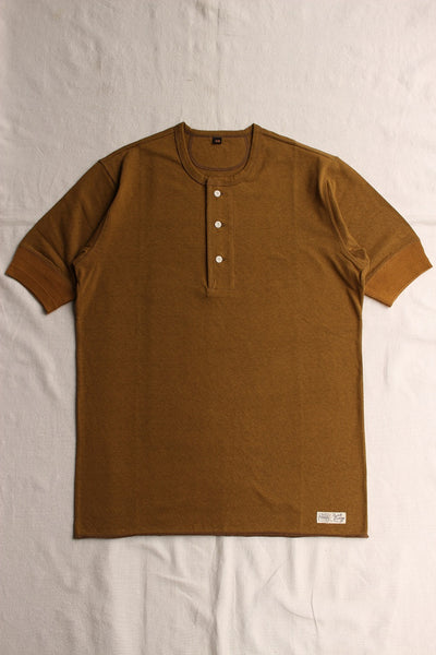 FREEWHEELERS / HENLEY NECKED TYPE SHORT SLEEVE SHIRT (#1725005,OLIVE DRAB)