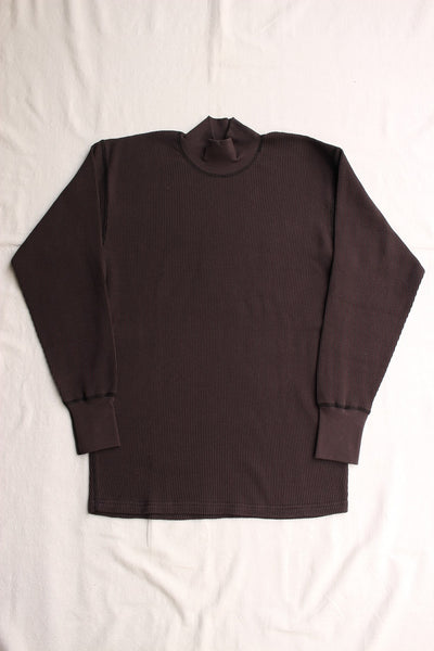 FREEWHEELERS / HIGH NECK THERMAL LONG SLEEVE SHIRT (#1835007,BLACK) / 2020 model