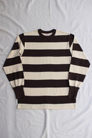 "FREEWHEELERS / ""HORIZONTAL STRIPED"" SET-IN LONG SLEEVE T-SHIRT (#2125019,DRY CREAM × CHARCOAL BLACK)"