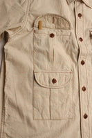 "BO'S GLAD RAGS / ""JAMPACKIN' DIGGER"" (S20-01,Lint-Napped White Chambray)"