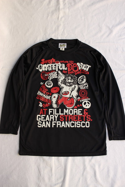 "BO'S GLAD RAGS / ""JERRY'S GRATEFUL DONUT Promotion Tee, SAN FRANCISCO,CALIF.,1971"" (C20-01,BLACK)"