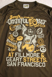"BO'S GLAD RAGS / ""JERRY'S GRATEFUL DONUT Promotion Tee, SAN FRANCISCO,CALIF.,1971"" (C20-01,OLIVE GREEN)"