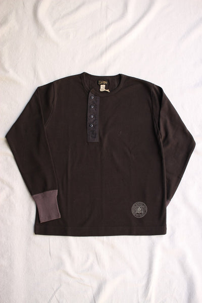 COLIMBO / KINGS HIGHWAY HEAVY HENLEY SHIRT (ZV-0446,BLACK)