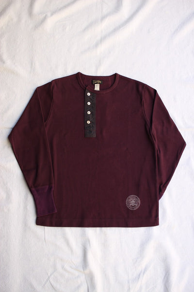 COLIMBO / KINGS HIGHWAY HEAVY HENLEY SHIRT (ZV-0446,RAISIN)