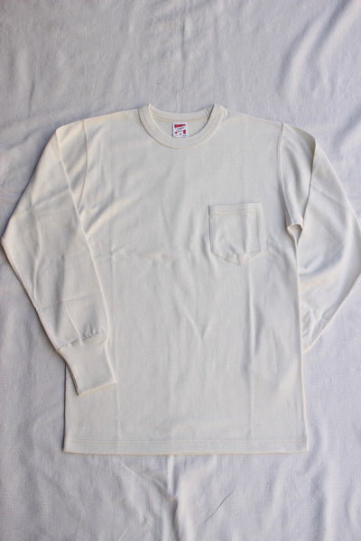 FREEWHEELERS / LONG SLEEVE POCKET T-SHIRT (#2025014,OFF-WHITE)