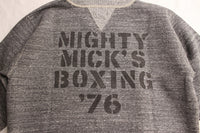 "FREEWHEELERS / SET-IN CUT-OFF SLEEVE SWEAT SHIRT ""MIGHTY MICK'S BOXING GYM"" (#2024001,GRAINED CHARCOAL GRAY)"
