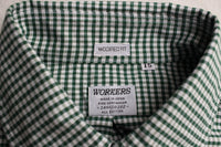 WORKERS / Modified BD,2020 (Green Check Supima Oxford)
