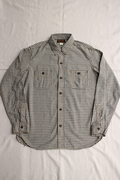 "FREEWHEELERS / ""Neal"" (#2013001,WHITE × INDIGO SMALL CHECK)"