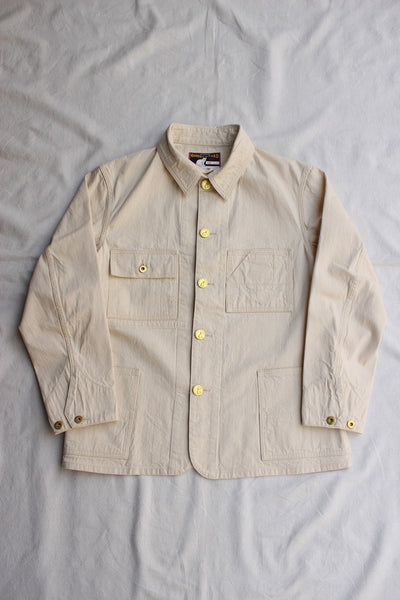 WORKERS / Queen of the road, Railroad Jacket (White Denim)