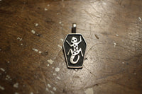 "BO'S GLAD RAGS / ""R.I.P. Lizard King"" SLUMBER COT SHAPED PENDANT HEAD (A20-06SV,Sterling Silver)"