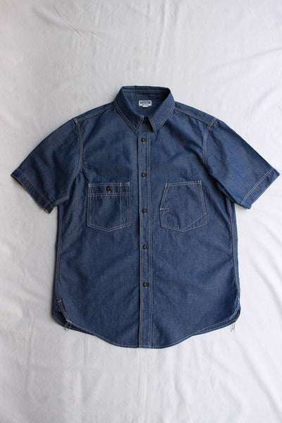 FREEWHEELERS / THE IRONALL SHORT SLEEVE WORK SHIRT (#2023010,INDIGO) / 2020 model